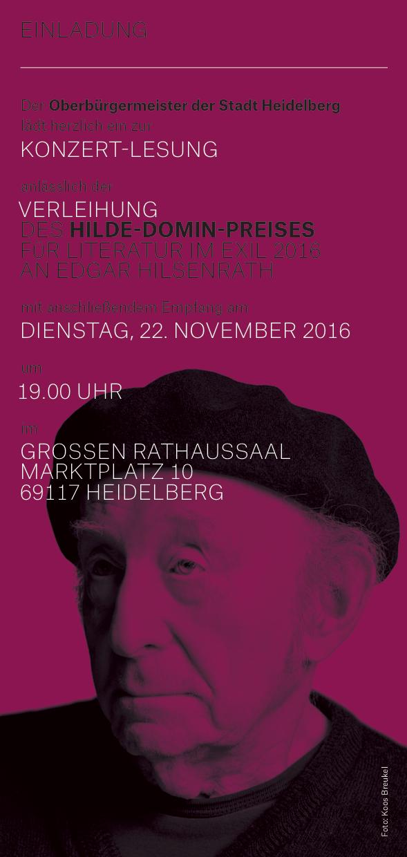 Einladungskarte der Stadt Heidelberg