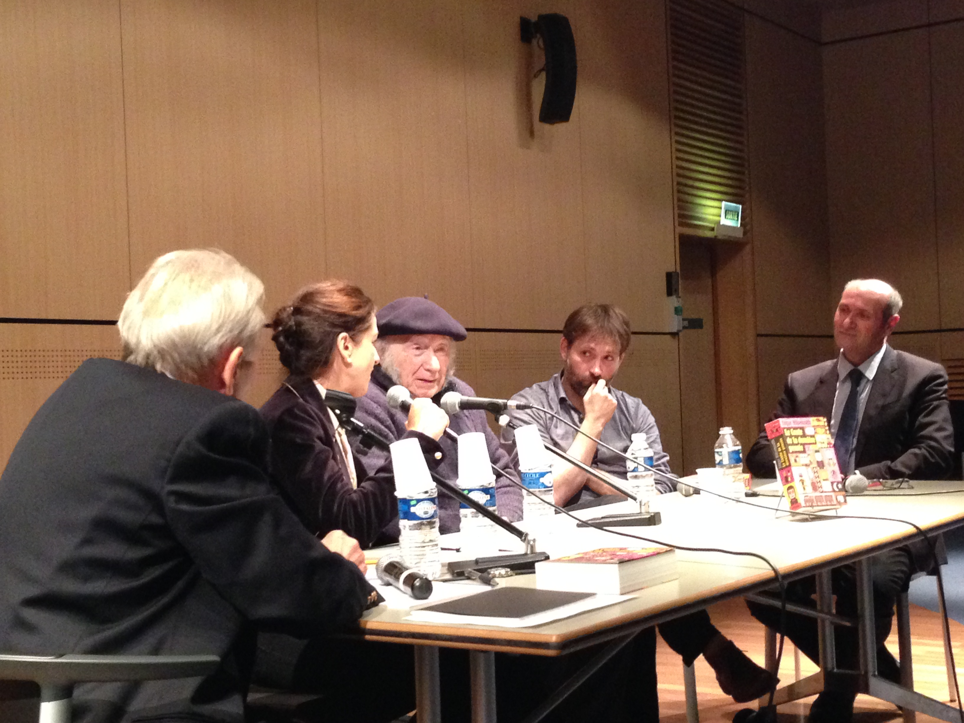 Edgar Hilsenrath at a discussion in the state library in Marseille, October 2015.