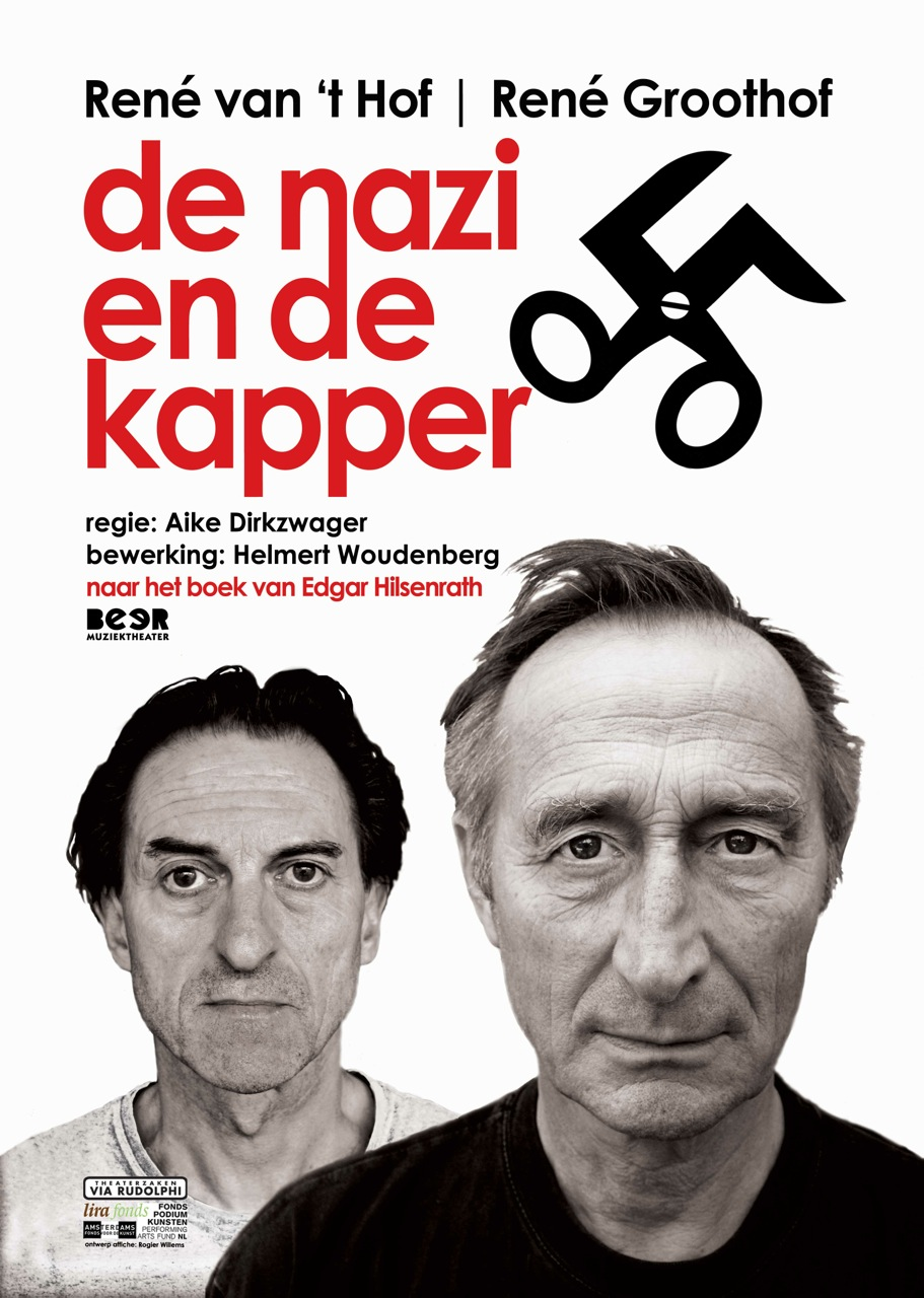 "Poster for the theatre play in the Netherlands ""De nazi en de kapper""."